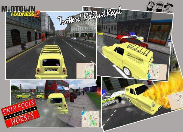 Reliant Regal Van, Midtown Madness