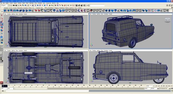 Del Boy Van, 3d Model