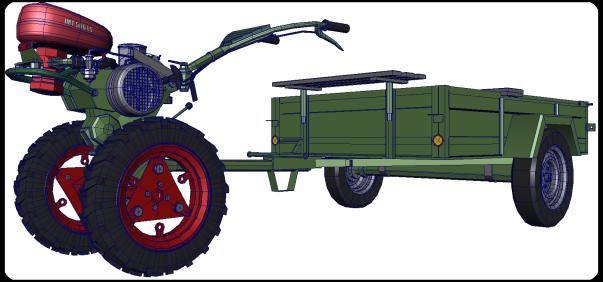 Agria 6000, IMT 506, 3d model