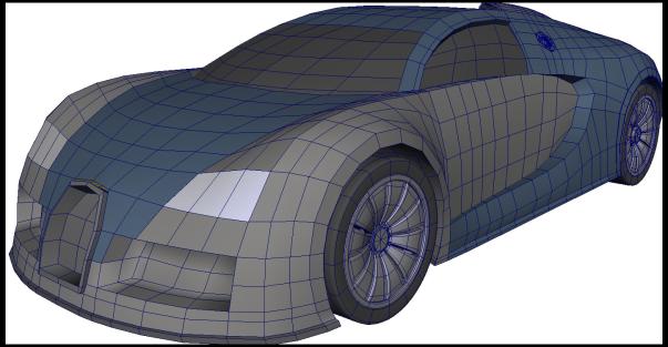 Bugatti Veyron, 3d model