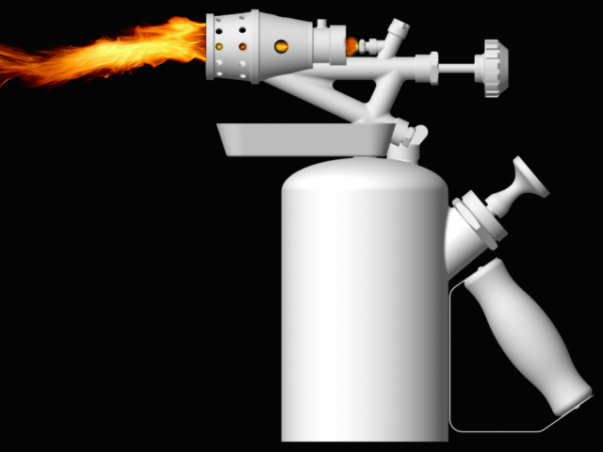 solidworks, blowtorch