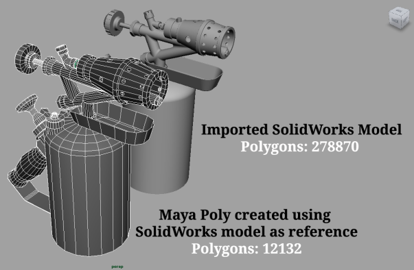 Blowtorch, Free Maya Model, solidworks