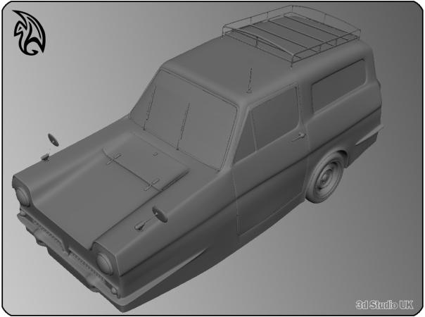 Reliant Regal 3d Model