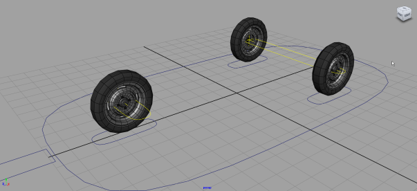car rigging, maya