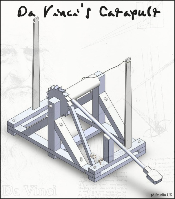 Catapult, Solidworks Free Model, Da Vinci
