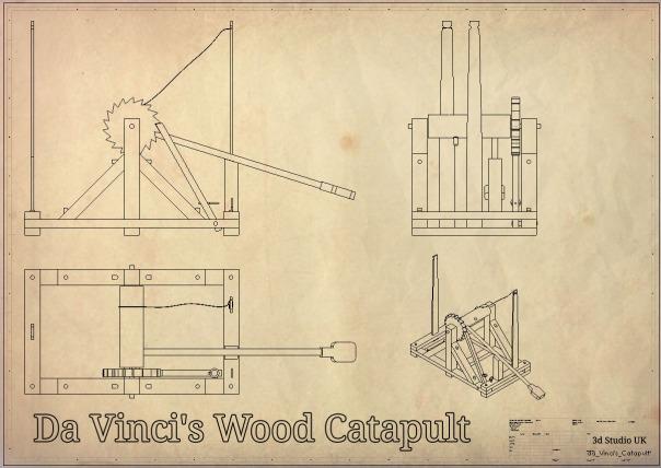 Da Vinci's Catapult, 3d