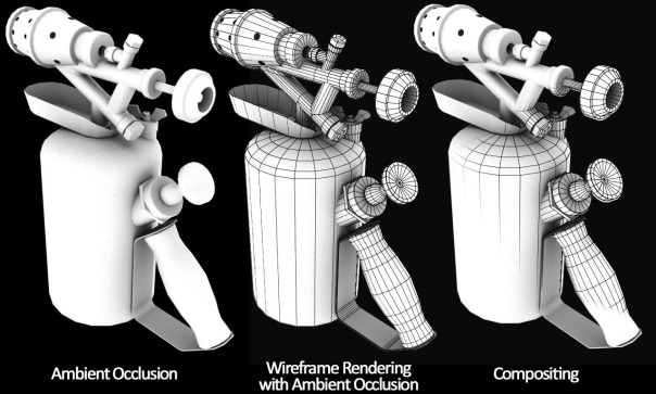 Rendering Wireframe, Ambient Occlusion, Mental Ray