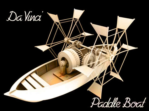 Da Vinci, Paddle Boat, Maya, 3d Model