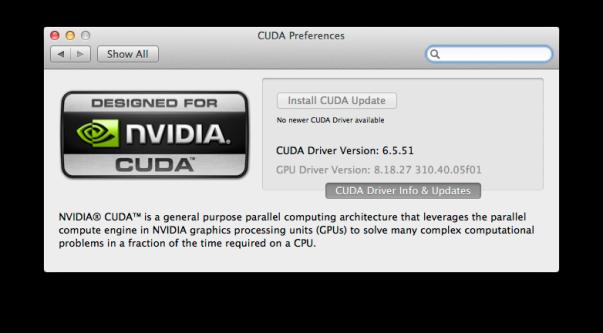 OS X GPU driver versions